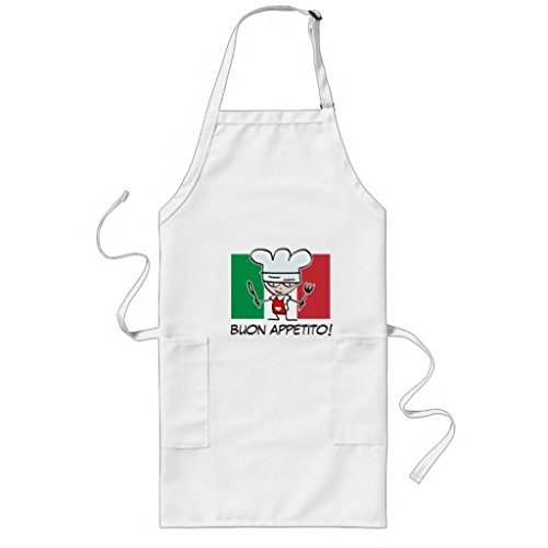 whiangfsoo Italian chef grembiule per barbecue con bandiera dell'