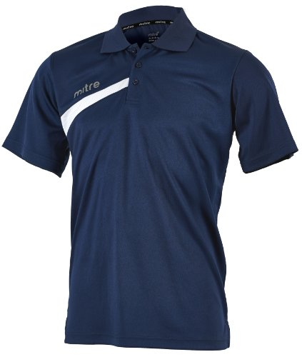 Mitre Polarize Erwachsene FuÃ?Ball-Poloshirt XS Blau - Navy/Weiß