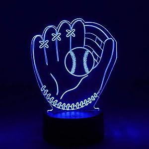 NUÜR 3D Nachtlicht mit optischer Täuschung - 7 LED-Farbwechsellampe mit...