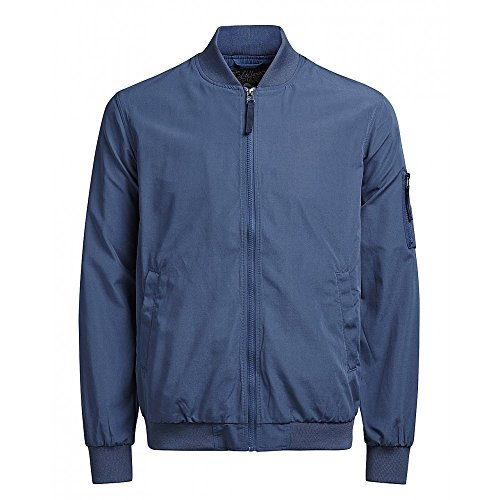 Jack & Jones - Blouson Will Summer Bomber - M, Bleu