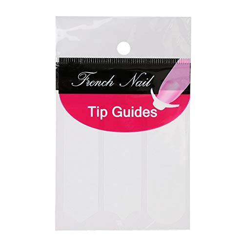 Haobase 10 Blatt French-Nagel Aufkleber Schablonen Nail Art French Nagel-Maniküre Tip Guides (French Maniküre Schablone)
