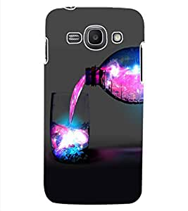 ColourCraft Glass and Bottle Design Back Case Cover for SAMSUNG GALAXY ACE 3 S7272 DUOS