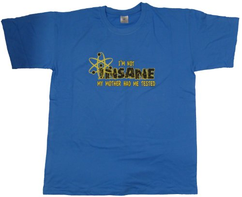 DarkArt-Designs Lifestyle T-Shirt Not Insane regular fit Azure