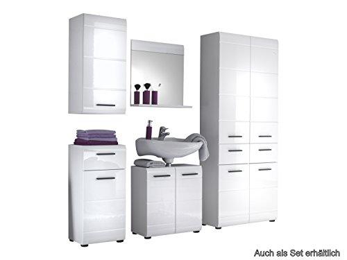 Trendteam Waschbeckenunterschrank, Weiß Hochglanz – 60x56x31 cm - 3