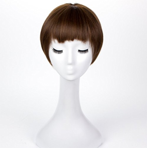 YZ-YUAN Perücken Kurze Bob Stil Frauen Dame Synthetische Haarteil Natürliche Cosplay Perücken Pop Party (Pop Haarteile)
