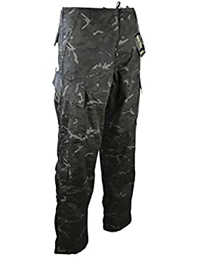Kombat camuflaje pantalones BTP noche carga estilo pantalones Airsoft Militar, diseño de camuflaje