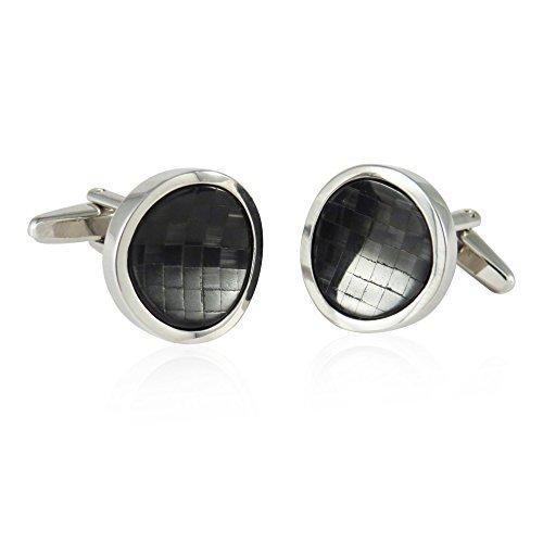 Schwarz Cateye von Catseye Lichtwellenleiter Wave Manschettenknöpfe - Formale Hochzeits-schwarzen Tuxedo-anzug
