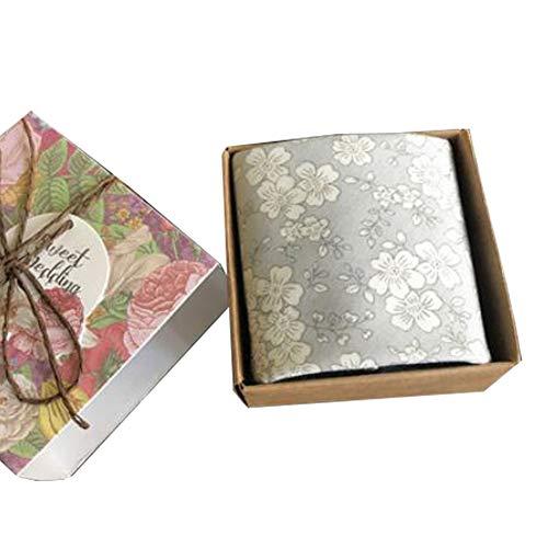 Chinashow Womens/Girls Vintage Floral Print Baumwolle Taschentücher Floral Taschentuch mit Geschenkbox A05