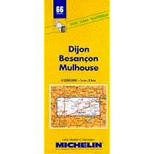 Carte routière : Dijon - Besançon - Mulhouse, 66, 1/200000