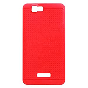 Acm Multi-Color Soft Silicon Back Case For Micromax A120 Mobile Cover-Red Dotted Designer