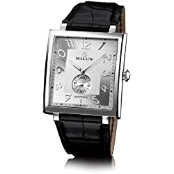 Milus Men's Automatic Watch HERA002F with Leather Strap
