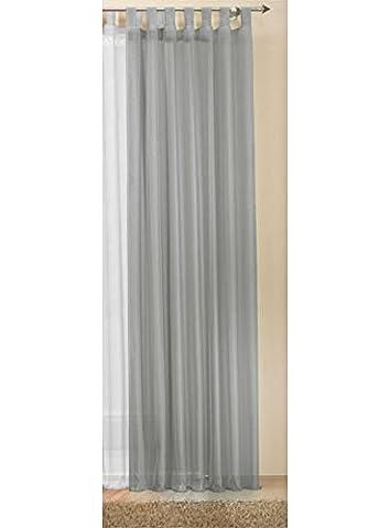 Transparente einfarbige Gardine aus Voile, viele attraktive Farben, 245x140, Grau,