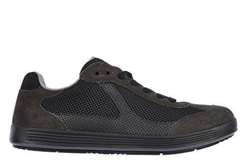Prada scarpe sneakers uomo camoscio nuove sailing rete nero EU 40 4E2501 O4Z F094L