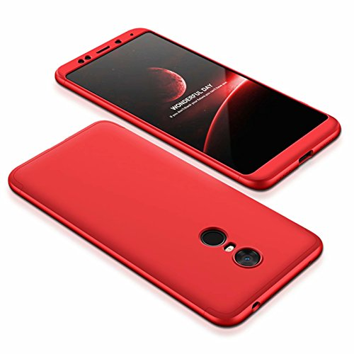 DESCHE compatibles Funda Xiaomi Redmi 5 Plus Rojo