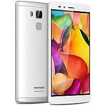 "Vernee Apollo Lite - Smartphone libre 4G LTE 32GB (Pantalla 5.5"", Android 6.0, 4GB de RAM, Deca-Core, Cámara 16.0 Mp, Sensor de huellas dactilares, Carga rápida, OTG), Plateado"