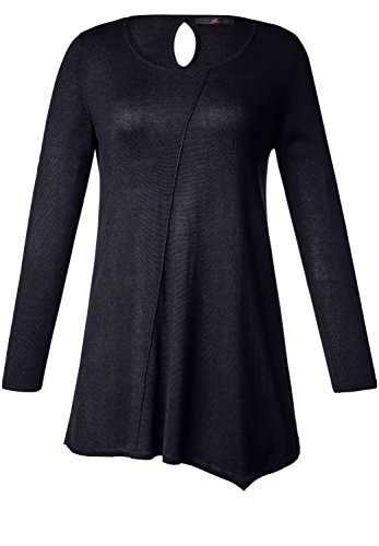 EMILIA LAY Damen Pullover Hunger-Pullover Asymmetrischer Saum