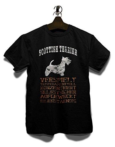 Hund Scottish Terrier Herren T-Shirt Schwarz