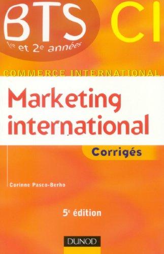 Marketing international BTS CI : Corrigés