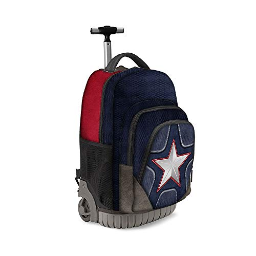 Karactermania Captain America Suit-GTS Travel Trolley-Rucksack Zaino Casual, 47 cm, 39.5 liters, Multicolore (Multicolour)