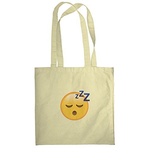 Texlab–Sleeping Emoji–sacchetto di stoffa Naturale