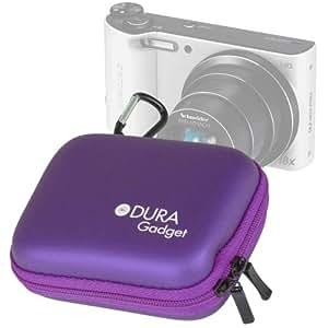 DURAGADGET housse étui rigide en Violet + boucle de ceinture détachable bonus et poche de rangement pour appareil photo numérique compact Samsung Smart Camera WB800F, WB200F et WB250F avec technologie Wi-Fi intégrée - Garantie 2 ans