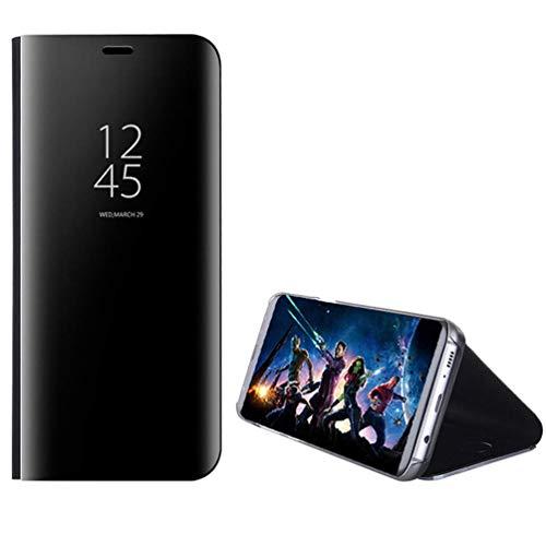 Tech Express Luxuriöses Flip Case für Samsung Galaxy S10, S10+, S10e Metallic Chrome Bumper [Full Body Protection Case] Film Ständer unterstützt kabelloses Laden, Samsung Galaxy S10e, schwarz