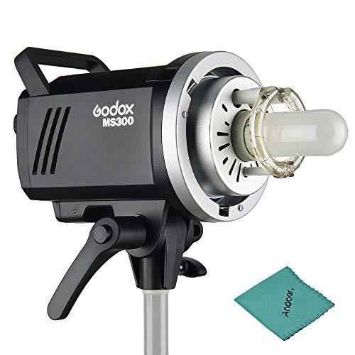 Godox MS300 Studio Blitzleuchte Monolight 300Ws max. Eingebautes Godox 2.4G Wireless X System GN58 5600K mit 150W Modellierungslampe Bowens Mount für Innenstudio Produktfoto Porträtfotografie -