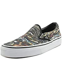 Vans Classic Slip on - Zapatillas para mujer, color black multi, talla 36