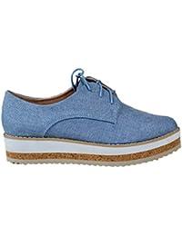 Zapato Alto. Detalle Troquelado en la Puntera. Cierre Mediante Cordones. Altura de la Suela 5.0 cm. o7NHNa2c