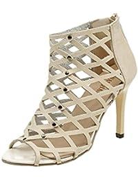 155337cd456f8 Esailq Femme Été Tendance Sandales Talons Hauts Chaussures Sandales Sexy  Bout Ouvert Lanière Talon ...