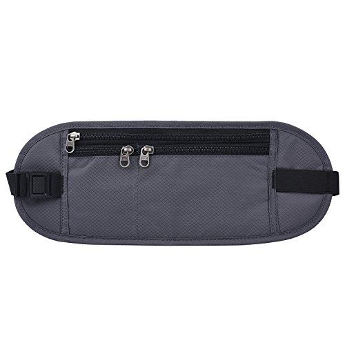 Geld Gürtel, Outgeek Taille Tasche Wasserdichte Oxford Fanny Pack Tasche für Jogging Wandern Grey