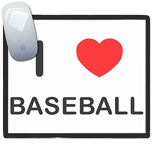 I Love Heart Baseball - Kunststoff-Mauspad