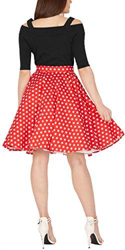 BlackButterfly Polka-Dots 1950er-Jahre Swing Tellerrock (Rot, EUR 42 - L) - 3