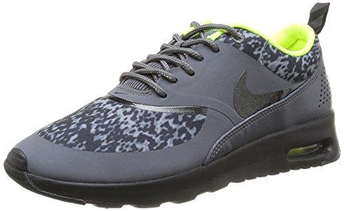 Nike Air Max Thea Print 599408-006 Damen Laufschuhe Training Grau (Dark Grey/Black-Volt) 36.5 (Schwarz Grau Air)