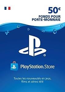Carte PSN 50 EUR | Code Playstation Store | PS4/PS3/PS Vita - Compte français