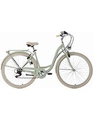 KS Cycling Damen Damenfahrrad Balloon RH 48 cm Fahrrad, Grün, 28