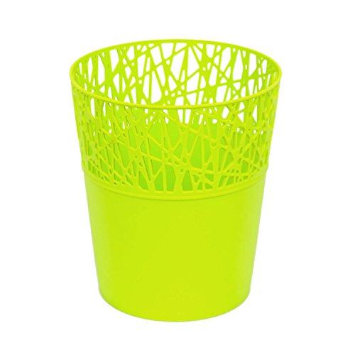 Rond cache-pot 16 cm CITY en plastique romantique style en lime