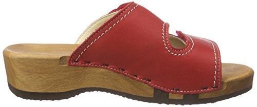 Woody Melanie Damen Pantoletten Rot (Rot)
