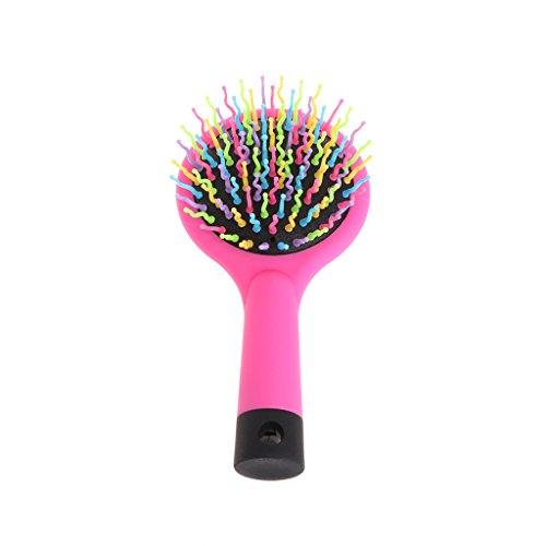Rainbow Comb Volume Brush Magic Hair Mirror for Pet Dog Hair Tangle Natural