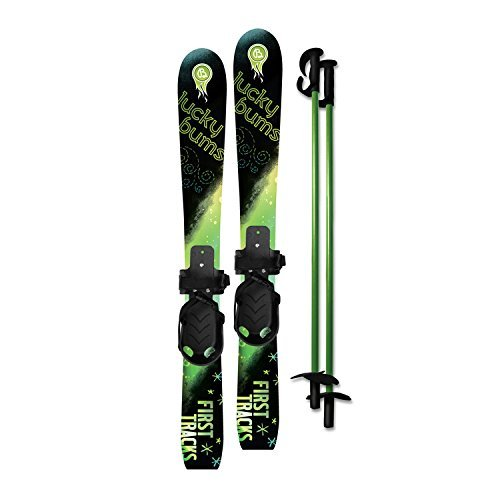lucky-bums-kids-beginner-snow-skis-and-poles-70-cm-green-black-by-lucky-bums