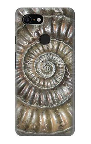 Innovedesire Ammonite Fossil Hülle Schutzhülle Taschen für Google Pixel 3