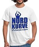 Spreadshirt Nordkurve Gelsenkirchen Fan Männer T-Shirt, S, Weiß