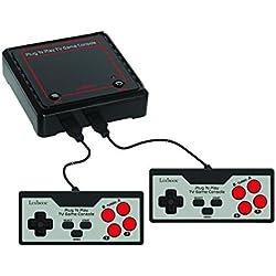 Lexibook JG7800 Console de jeux Plug N' Play avec 300 jeux et 2 manettes - multijoueur, se branche à votre TV - jeux de moto, jeux de course, jeux de sport, jeux de stratégie, jeux d'arcade