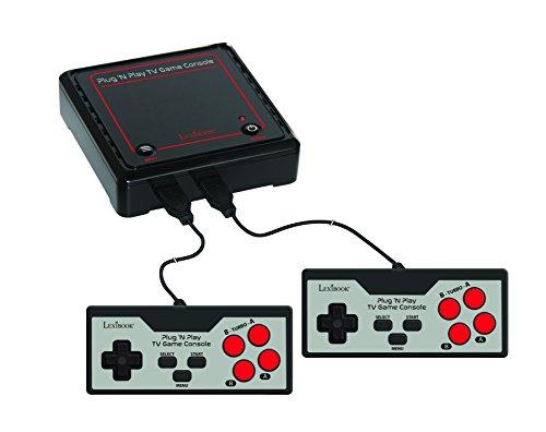 LEXIBOOK- Consola De Televisión con 300 Juegos Vídeo Interactivos Deportivos, Negro/Gris/Rojo, JG7800 Inter, Color