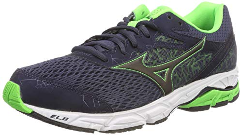Mizuno Wave Equate 2, Scarpe da Ginnastica Basse Uomo, Multicolore (Ombreblue/Black/Greensli 001), 44 EU