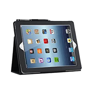 TeckNet® Apple iPad 4 Case, Smart Cover PU Leather with Flip Stand & Lifetime Guarantee + Included 1 Screen Protector and Stylus Pen For Apple iPad 2 iPad 3 iPad 4 - Lifetime Warranty