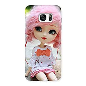 Cute Pink Doll Back Case Cover for Galaxy S7 Edge