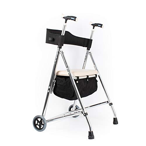 XKRSBS Outdoor-Roller-Shopping-Walker-Verstellbarer faltender Ablagekorb