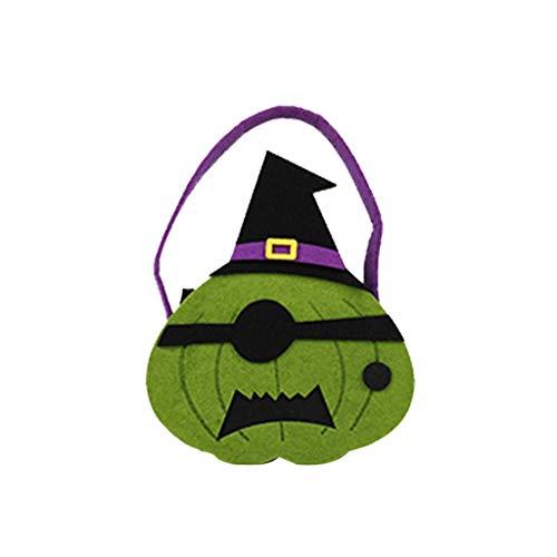 Tensay Halloween Kürbis Tasche neue tragbare lustige Anzieh kleine Accessoires Candy Bag Handheld Vliesstoff lustige Hauptdekoration