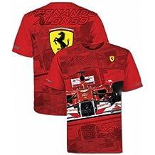 Camiseta hombre Ferrari Fernando Alonso casco rojo talla M